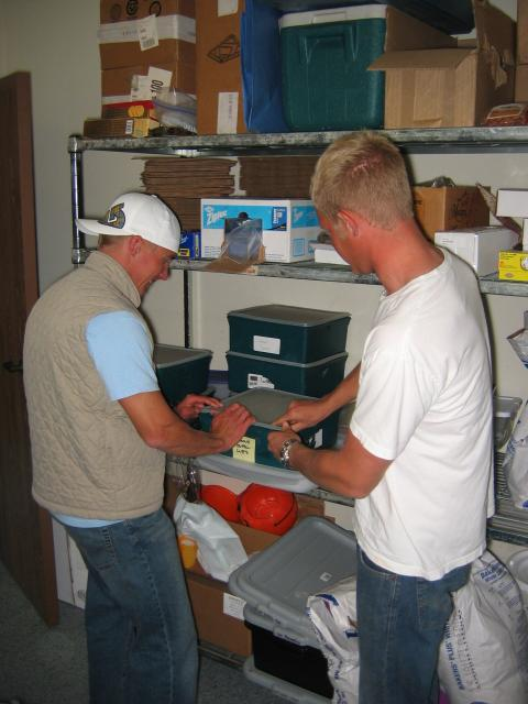 Surfers int the stock room - caught redhanded