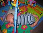 Check out my classic baby sleeping position